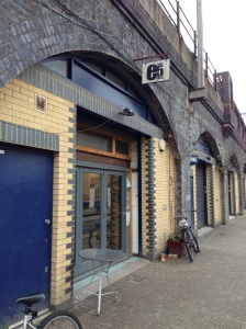 The entrance to E5 Bakehouse, London Fields