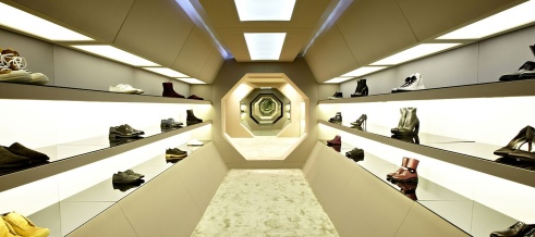 The shoe room at LN-CC