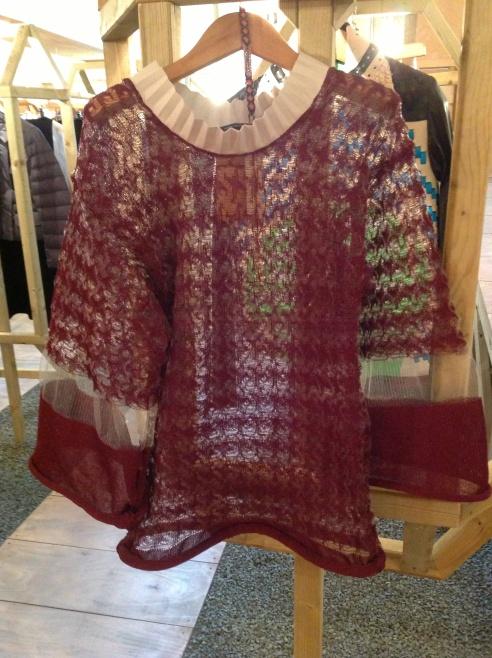 Gorgeous Martina Spetlova knitted mesh tunic