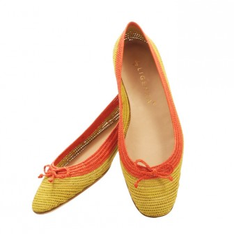 Gabriela Ligenza's raffia ballet pump in yellow and orange £179.00