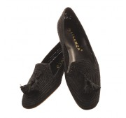The black raffia loafer by Gabriela Ligenza £179.00