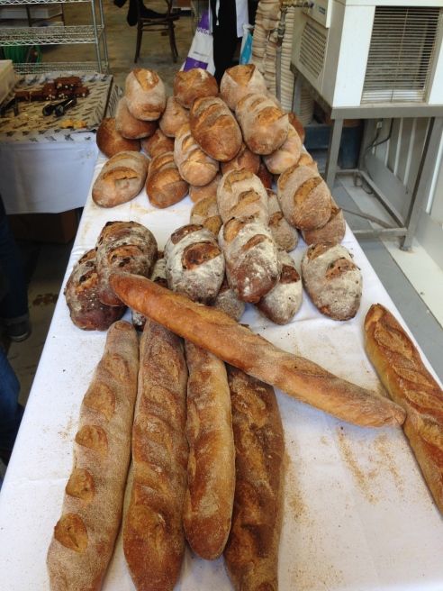 Some of the varieties of bread for sale at St John Bakery