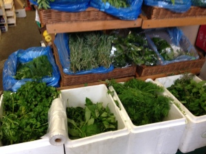 Some of the fresh herbs